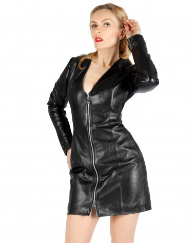 Leather Dress Elly Black...