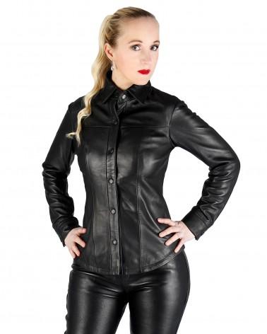 Leather blouse Ella black...
