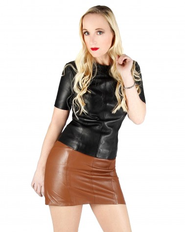 Leather Mini-Skirt Conic