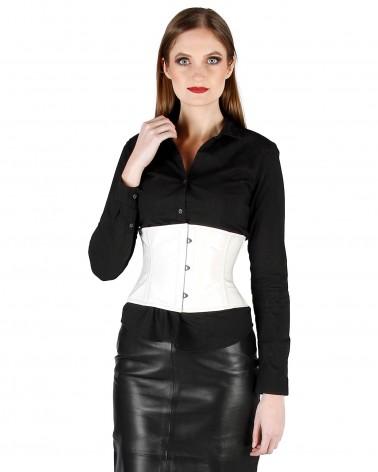 Leather Waist Corset Black