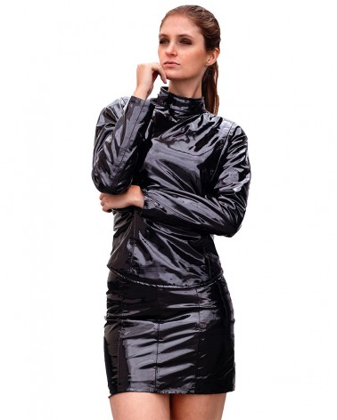 Vinyl Mini-Skirt Black