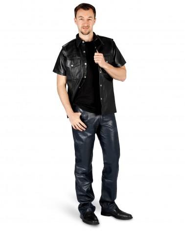 Leatherpants 5-Pocket Black