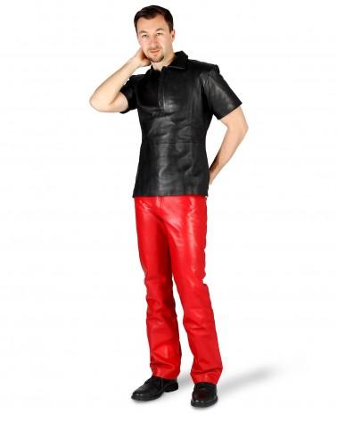 Leatherpants 5-Pocket Red