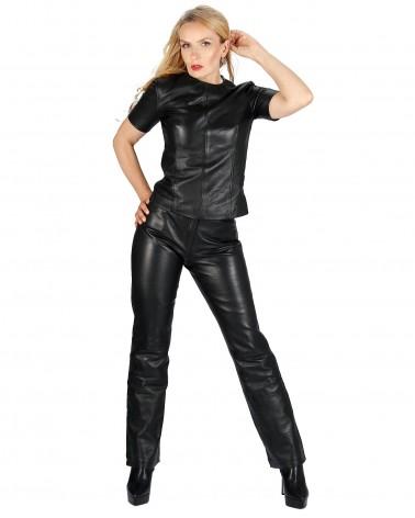 Leatherpant Belt Black