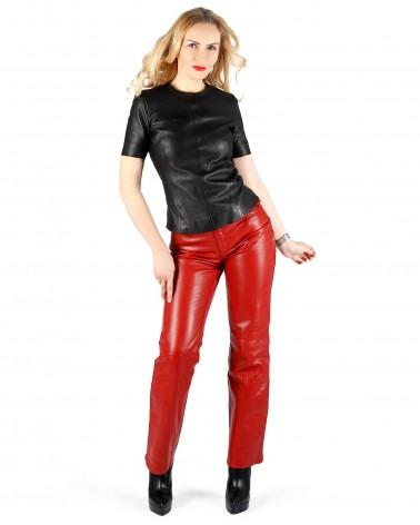 Leatherpants 5-Pocket Darkblue