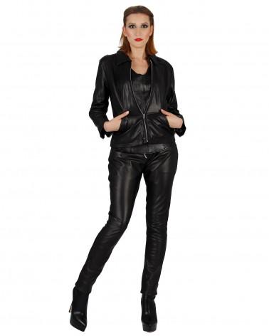Leatherpants Rockey Black