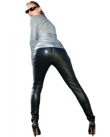 Leatherleggings Jersey Black
